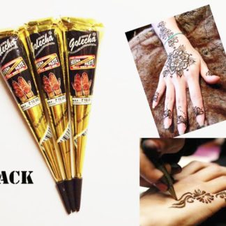 54c285316 3 Black Golecha Henna Cones | My Beauty - Healthier Beauty Products