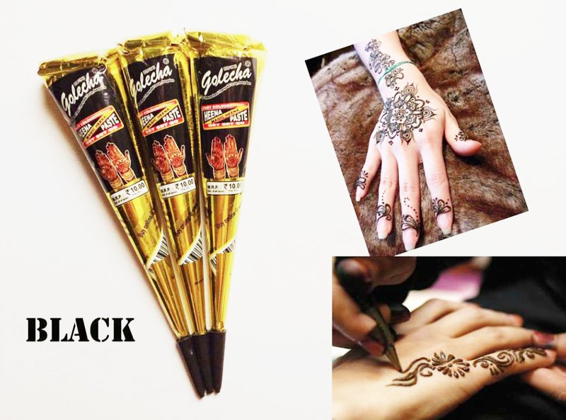 3 Black Golecha Henna Cones My Beauty Healthier Beauty Products
