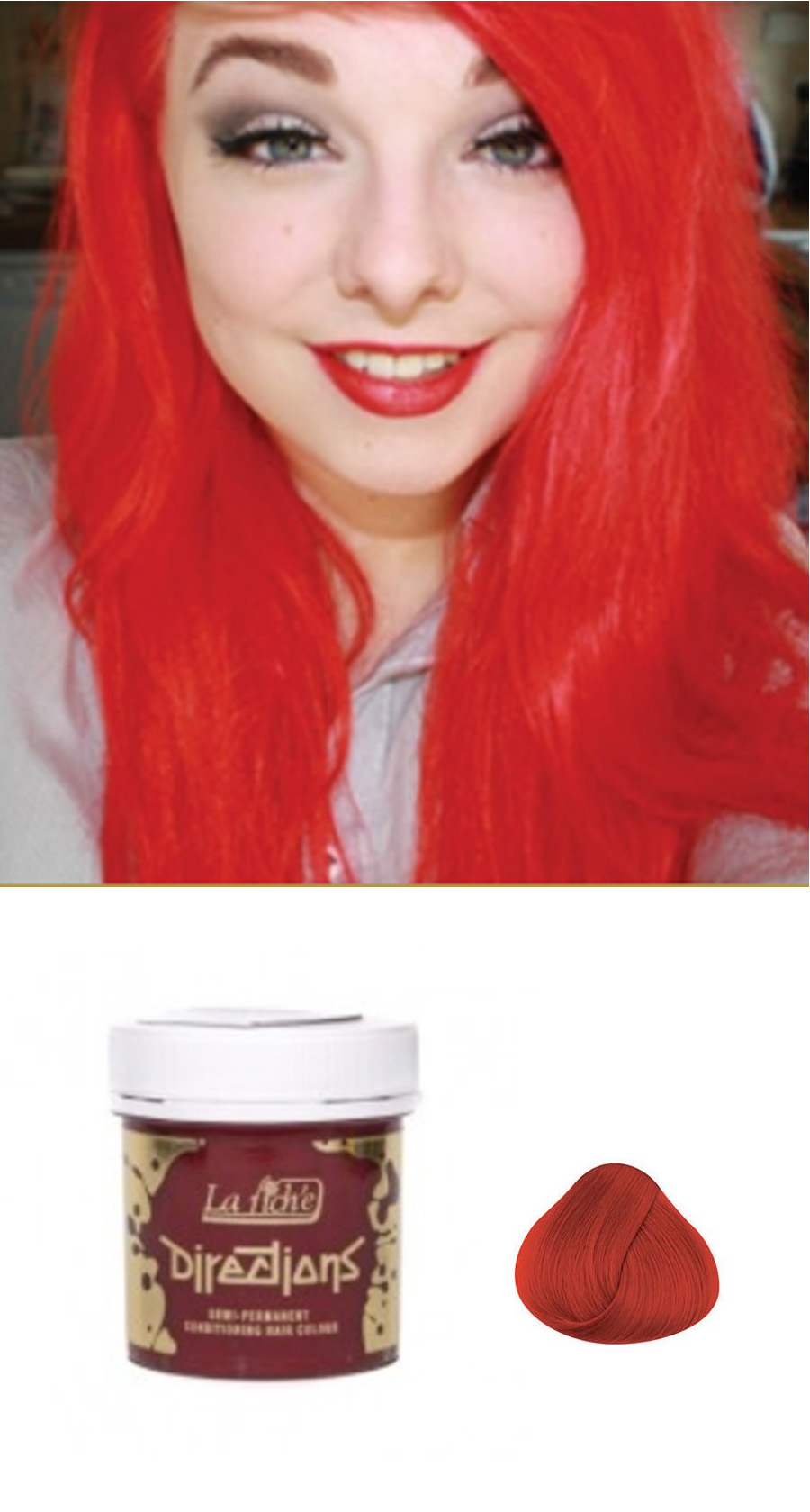 La Riche Directions Semi Permanent Hair Color Dye Coral Red My
