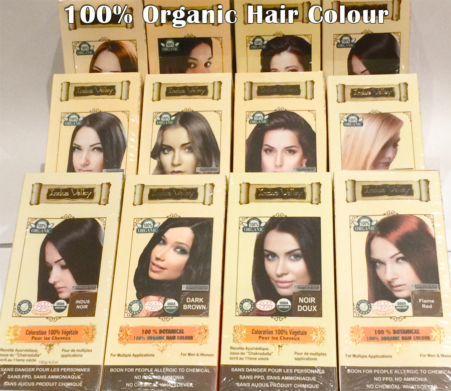 Organic Hair Colour - Semi Perm Black Brown Red Blonde